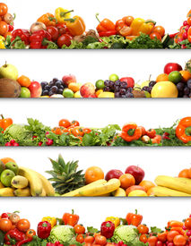 image of vegetable food fruit  - 5 nutrition textures  - JPG