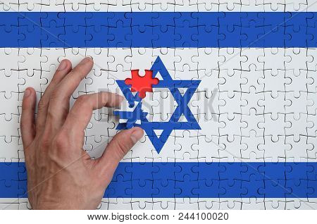 Israel Flag Is Depicted On