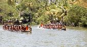 Kerala Snake Boats Neck And Neck In A Race