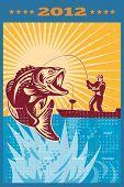 Fishing Poster Calendar 2012 Largemouth Bass