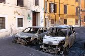 Devastation Of Cars In Rome