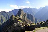 Peru Panorama Of Machu Pichu With Wayna Peak