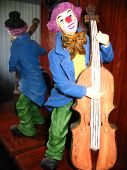 Clown On Standing Bass poster