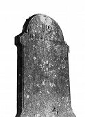 Isolated Headstone - Black And White