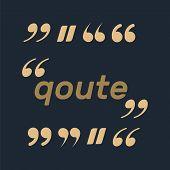 Quotes And Brackets Speech Bubbles. Empty Quote Bubble. Color Quote Bubble. poster