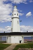 image of winnebago  - Neenah Lighthouse in Wisconsin by Lake Winnebago - JPG
