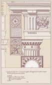 Hand draw sketch doric architectural order. Bitmap copy my vector ID 84869035