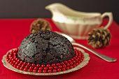 Christmas Pudding With Beads