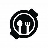 Child Plate Vector Icon On White Background. Child Plate Modern Icon For Graphic And Web Design. Chi poster