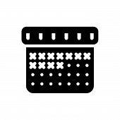 Calendar Vector Icon On White Background. Calendar Modern Icon For Graphic And Web Design. Calendar  poster