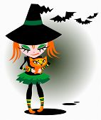 Halloween Young Witch