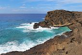 View Of The Coast Near Halona Beach Cove In Hawaii