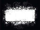 Black White Splat Grunge Background