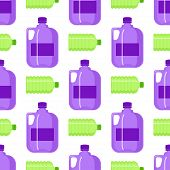 Plastic Water Bottle Vector Blank Nature Clean Seamless Pattern Background Liquid Aqua Fluid Blank T poster