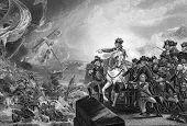 Große Belagerung von Gibraltar. Engaved von J.C.Armytage und in The History of England, United Ki veröffentlicht