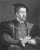 Charles V (1500-1558). Engraved by W. Holl and published in The Gallery Of Portraits With Memoirs, U