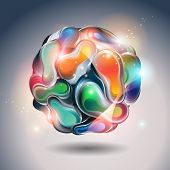 Abstract Vector Ball On A Gray Background