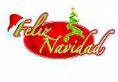 Spanish Christmas sign illustration design Feliz Navidad
