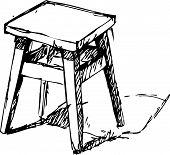 Vector illustration of Sketchy Chair
