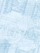 Architecture Blueprint - Hand draw sketch ionic architectural order. Bitmap copy my vector ID 86211823