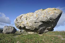 foto of errat  - Limestone Glacial Erratic Boulders Fanore Co - JPG