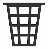 Junk Vector Icon. Flat Junk Pictogram Is Isolated On A White Background. poster
