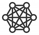 Network Connections Vector Icon. Flat Network Connections Symbol Is Isolated On A White Background. poster