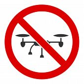 No Airdrone Vector Icon. Flat No Airdrone Pictogram Is Isolated On A White Background. poster