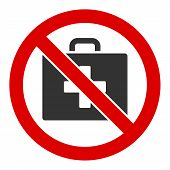 No First-aid Vector Icon. Flat No First-aid Symbol Is Isolated On A White Background. poster