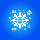 Snow Element. White Snow With A Blue Background. Snow Vector Collection. Snow Hand Cover For The Des poster