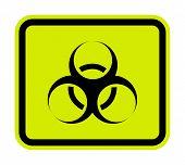 Beware Biological Hazard Symbol Isolate On White Background,vector Illustration Eps.10 poster
