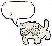 cartoon pug dog