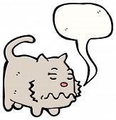 sick cartoon cat