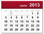 Spanish Version Of June 2013 Calendar