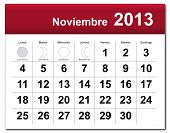 Spanish Version Of November 2013 Calendar