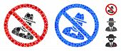 No Spies Composition Of Filled Circles In Different Sizes And Color Hues, Based On No Spies Icon. Ve poster