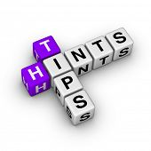 tips and hints icon (cubes crossword series)