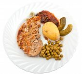Pork Chop With Boiled New Potatoes
