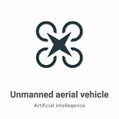 Unmanned Aerial Vehicle Vector Icon On White Background. Flat Vector Unmanned Aerial Vehicle Icon Sy poster