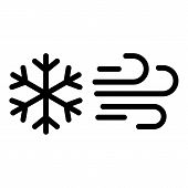 Climate Wind Snowflake Icon. Outline Climate Wind Snowflake Vector Icon For Web Design Isolated On W poster