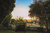 Idyllic Sunset Scenery In Taupo, North Island, New Zealand poster