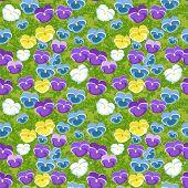 Viola Seamless Pattern