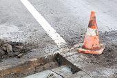Pothole repairing works