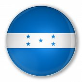 Badge With Flag Of Honduras