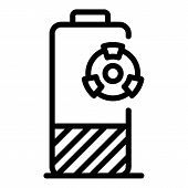 Hazard Battery Icon. Outline Hazard Battery Vector Icon For Web Design Isolated On White Background poster