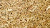 Sheet Of Plywood With Fragments Of Compressed Sawdust. Texture Of Yellow Pressed Wood Shavings. Chip poster