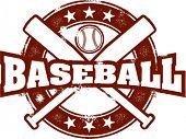 Sello de béisbol estilo vintage