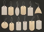 Craft Hanging Labels. Price Brown Paper Tag For Natural Eco Food Grocery And Shop Vintage Isolated C poster