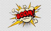Boom Pop Art Cloud Bubble. Smile, Wow, Pow, Cool, Ok, Oops, Wtf Funny Speech Bubble. Trendy Colorful poster