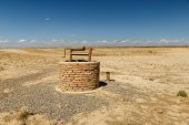 Water Well In The Steppes Of Kazakhstan, Turkestan, Archeological Town Savran poster